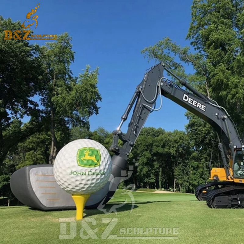 Outdoor Sculpture Garden Golf Ball, Golf Outdoor Decor